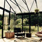 De serre van accommodatie de Wildernis op Camping BuitenLand