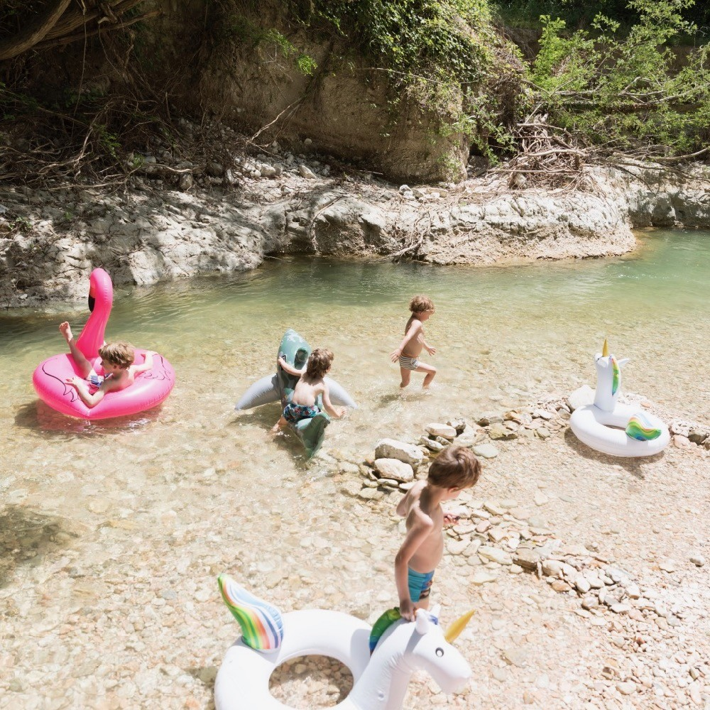 Waterpret bij Camping Sempreverde in Le Marche, Italië