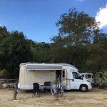 Een camper op de camping in Le Marche