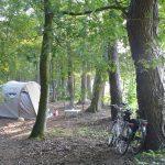 Met de tent en de fiets op pad
