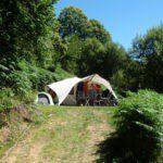 Een tent in het groen, met veel privacy