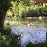 Een bootje op de Dordogne