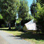 Bell tent bij Camping de Salviac in Frankrijk