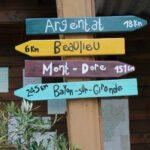 Wegwijzers Camping la Berge Ombragée in de Dordogne