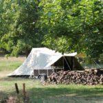 Tentkamperen bij Camping la Berge Ombragée aan de rivier de Dordogne