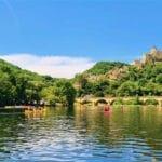Kanoën op de Dordogne tijdens een vakantie bij Camping de Salviac