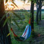 Relaxen in de hangmat bij Ons Buiten in Zeeland