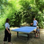 Tafeltennistafel bij Camping de Salviac in Frankrijk